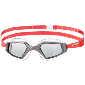 speedo Aquapulse Max 2 - Lunettes de natation - gris/rouge